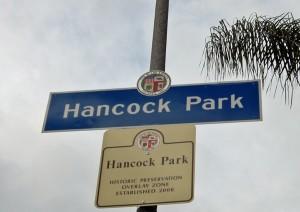 Hancock Park sign
